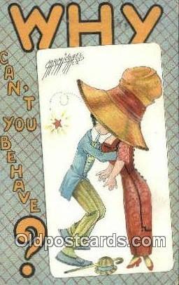 Artist Carmichael Postcard Post Card Old Vintage Antique Series # 310 1911