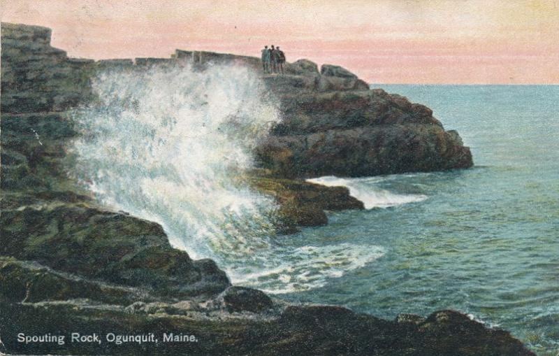 Spouting Rock on Atlantic Ocean - Ogunquit, York County, Maine - pm 1909 - DB