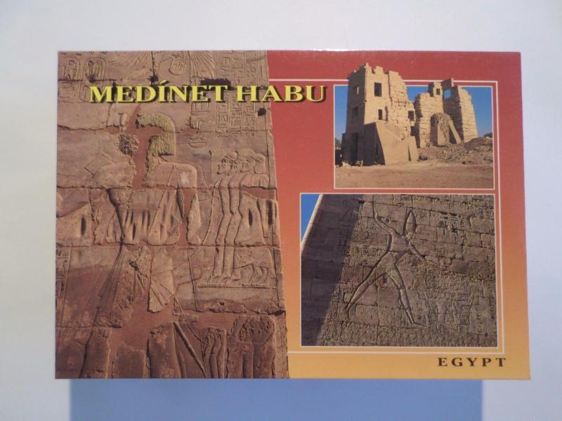 AFRICA AFRIQUE EGYPT EGYPTE MEDINET HABU TEMPLE VIEWS HISTORY ARCHEOLOGY z1 PC