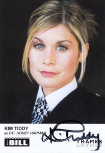 Kim Tiddy as PC Honey Harman ITV The Bill Hand Signed Cast Card