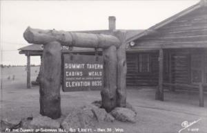 Wyoming Summit Tavern Highway 30 At The Summit Of Sherman Hill Real Photo