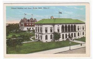 Federal Building Court House Enid Oklahoma 1920c postcard