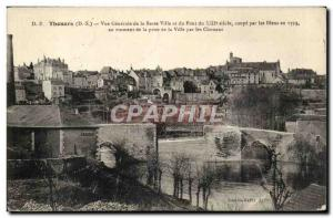 Thouars Old Postcard General view of the lower town and the bridge