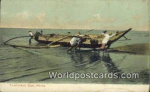 Philippines, Pilipinas Fisherman's Boat Manila Fisherman's Boat