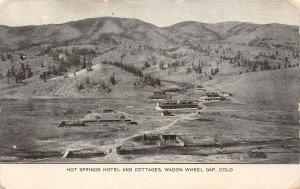 LP79 Wagon Wheel Gap Colorado Postcard Hot Springs Hotel Cottages