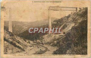 Old Postcard Fades Viaduct Panoramic during one of the stages of its construc...