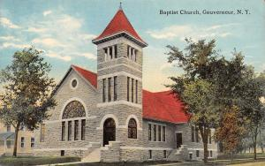 Gouverneur New York~Baptist Church~House Next Door~1908 Postcard