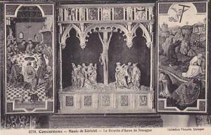 Concarneau, Musee de Kericlet, Le Retable d'Anne de Bretagne, Finistere, Fran...
