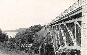LP45 Cut River Bridge    Michigan  Postcard RPPC