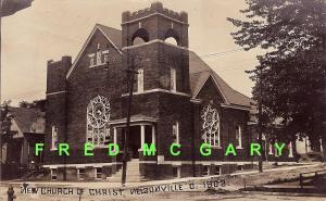1908 Nelsonville OH RPPC: New Church of Christ