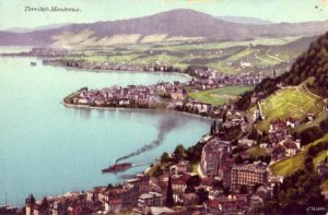 LAKE GENEVA SHORE TERRITET MONTREUX SWITZERLAND 1911