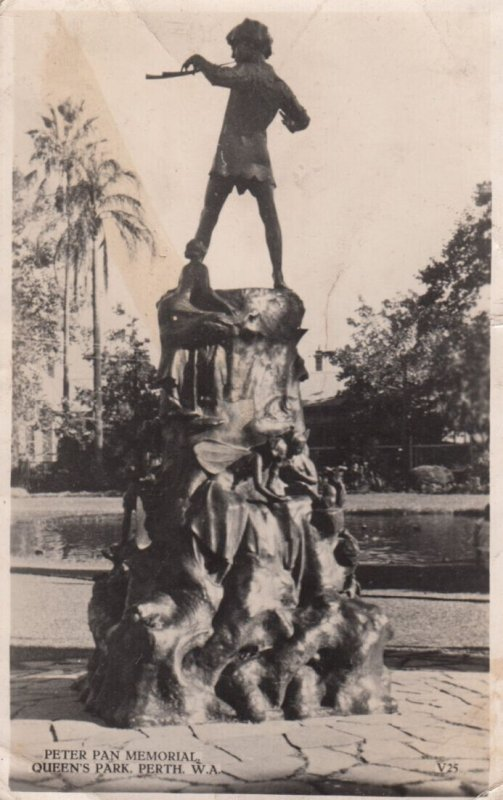 RP ; PERTH , W.A. , 1955 ; Peter Pan Memorial , Queen's Park