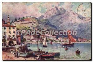 Postcard Menton Old Port View