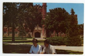 Postcard Bizzell Memorial Library University of Oklahoma Standard View Card