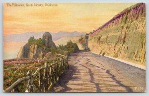 Santa Monica California~Palisades~Colorful Drive along Steep Cliffs~c1910