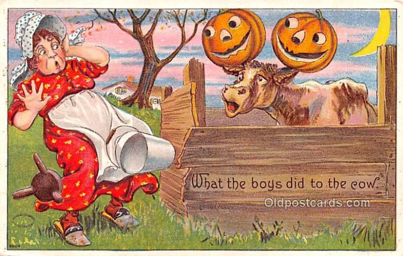 Halloween Writing on back