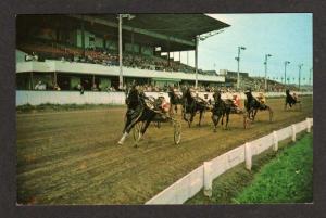 PEI CHARLOTTETOWN Horse Race Track Racing Carte Postale PRINCE EDWARD ISLAND