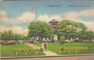 Tabernacle, Ocean City, NJ Linen Postcard