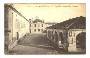 St-ANDRE-de-CUBZAC (Gironde), Place de la Maire, France, 1919