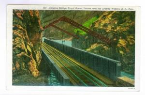 Hanging Bridge, Royal Gorge, Denver & Rio Grande Western Railroad unused PPC