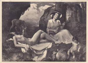 RP; German NAZI Era Art, Nude Woman and child,  Karl Truppel, Jugend, Haus de...