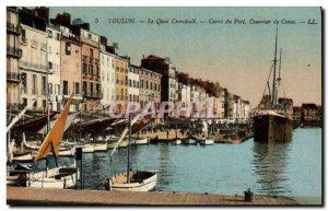 Old Postcard Toulon Quai Crostadt Carre Courier Port of Corsica Corsica Ferries