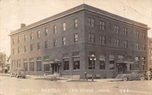 Ida Grove IA Hotel Baxter~Mail Drop Box on Corner~Nice Vintage 1920s Cars~RPPC