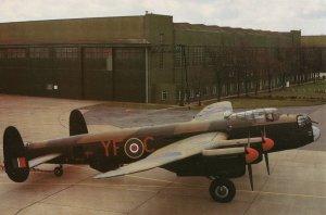 Lancaster B Mk VII NX611 Plane Aircraft East Kirkby Lincs Watch Tower Postcard