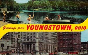 Youngstown OH~Lake Newport Fishing~Mill Creek Park & Central Square~1950s