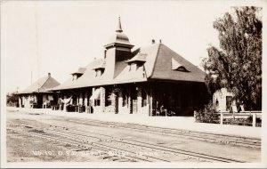 Boise Idaho OSL Depot Oregon Short Line Railway Station Real Photo Postcard F98