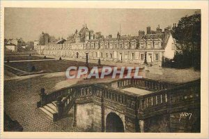 Postcard Old Palace of Fontainebleau La Douce France Wing of Ministers and Co...