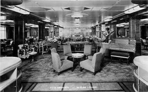Steamship, P.&.O. Himalaya, First Class Lounge, RPPC