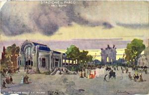 CPA MILANO. Stazione al Parco-Arch. Bongi. ITALY (521858)