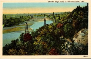 Oklahoma High Bluffs On Cimarron River Curteich