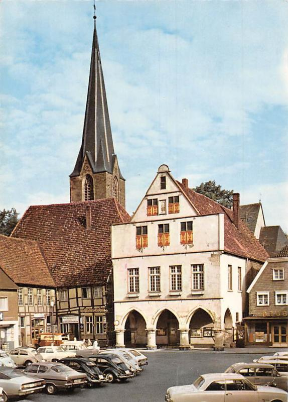 Werne Lippe Am Rathaus Town Hall Vintage Cars Auto Voitures