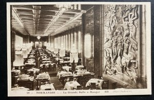 Mint France Real picture postcard Normandie The Big Dining Room
