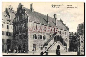 Old Postcard MULHAUSEN i.e. Rathaus MAULHOUSE. Townhouse