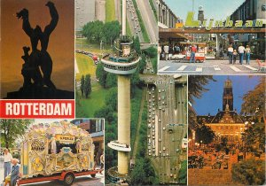 Postcard Netherlands Holland Rotterdam multi view