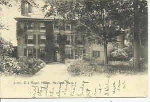 Medford Mass., Old Royall House--Rotograph