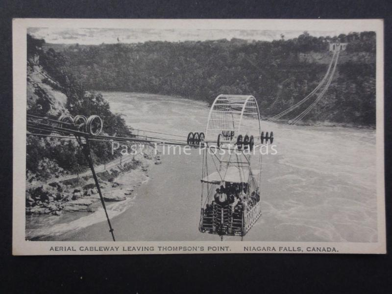 Canada: Niagra Falls - Aerial Cableway Leaving THOMPSON'S POINT c1920/30's