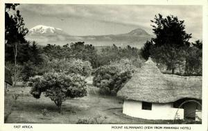 East Africa, Mount Kilimanjaro View from Marangu Hotel (1950s) Skulina Postcard