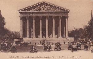 France Paris La Madelaine et la Rue Royale