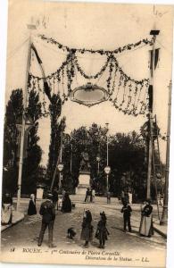 CPA ROUEN-3me Centenaire de Pierre Corneille-Decoration de la Statue (234956)
