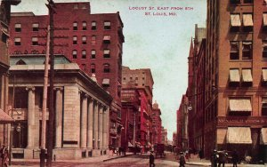Locust Street East From 8th, St. Louis, MO, Early Postcard, Unused