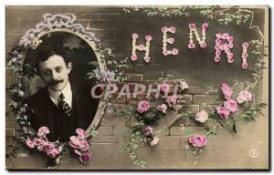 Old Postcard Fancy Henri Surname