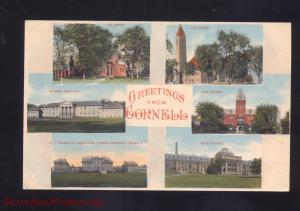 GREETINGS FROM CORNELL NEW YORK MULTI VIEW ANTIQUE VINTAGE POSTCARD