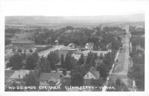 Glenns Ferry Idaho~Birdseye View~Main Street~Homes~1940s Real Photo~RPPC