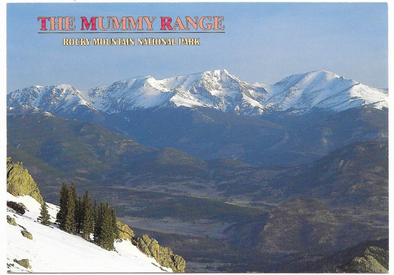 US Colorado Unused. Rocky Mountain National Park - The Mummy Range. Beautiful.