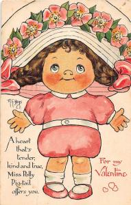 <A10> ARTIST SIGNED Postcard 1912 Fall River Mass VALENTINES DAY Hays Signed 3