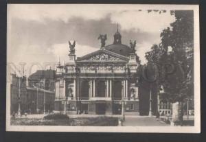 117864 Ukraine LVOV Opera & Ballet Theatre old photo postcard